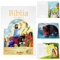 Biblia dla Dzieci Chrzest Komunia Roczek Dedykacja