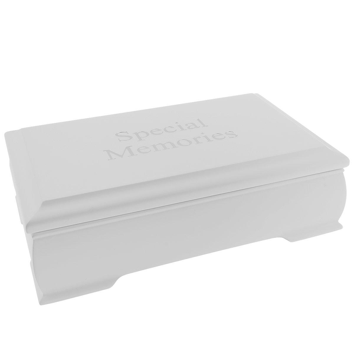 Białe Pudełko Wspomnień z Pozytywką Grawer
