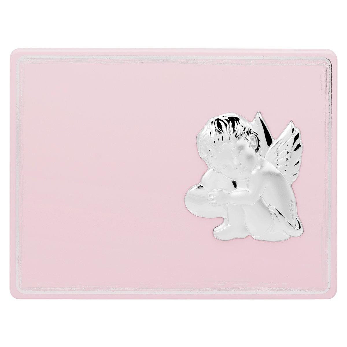 Obrazek na panelu różowym Aniołek 11,5x15 cm Grawer