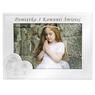 Ramka na zdjęcie I Komunia Św. dla Dziewczynki na białym drewnie Grawer 2