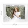 Ramka na zdjęcie I Komunia Św. dla Dziewczynki na białym drewnie Grawer 4