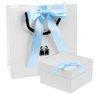 Buciki baletki Niebieskie chrzest roczek Swarovski Grawer 9