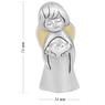 Figurka anioła z sercem, posrebrzana na Chrzest  2