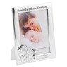 Ramka Pamiątka Chrztu Świętego Serce z dzieckiem 13 x 18 Srebro Grawer 3