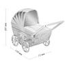 Skarbonka dla dziecka wózek - prezent na Chrzest, Baby Shower, Roczek | z Grawerem 6