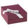 Srebrne kolczyki pr. 925 serce z różową cyrkonią DEDYKACJA 3