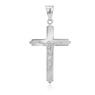 Srebrny 925 Sam Krzyżyk Chrzest Komunia Grawer 1