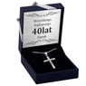 Srebrny Krzyżyk pr. 925 Chrzest Komunia Grawer 1