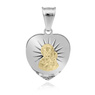 Srebrny Medalik Serce Matka Boska Częstochowska Pozłacana pr. 925 1
