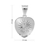 Srebrny Medalik Serce Matka Boska Częstochowska pr. 925 z Grawerem 4