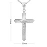 Srebrny krzyżyk z Jezusem z łańcuszkiem / dla mężczyzny, chłopca / z Grawerem i Dedykacją 5