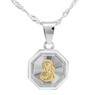 Srebrny medalik Matka Boska Częstochowska Pozłacana pr. 925 Grawer 2