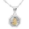 Srebrny medalik Matka Boska Częstochowska Pozłacana pr. 925 Grawer  9