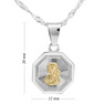Srebrny medalik Matka Boska Częstochowska Pozłacana pr. 925 Grawer  1
