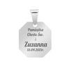 Srebrny medalik - Matka Boska z Dzieciątkiem / na Chrzest Św./ I Komunię Św./ GRAWER i DEDYKACJA   pr. 925 5