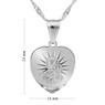 Srebrny medalik z Matką Boską Częstochowską z łańcuszkiem / serce / pr. 925 / z Grawerem 7