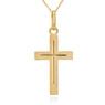 Złoty krzyżyk z łańcuszkiem / pr. 585 / prezent na Chrzest Św., I Komunię Św., Bierzmowanie / z Grawerem 3