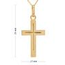 Złoty krzyżyk z łańcuszkiem / pr. 585 / prezent na Chrzest Św., I Komunię Św., Bierzmowanie / z Grawerem 5