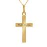 Złoty krzyżyk z łańcuszkiem / pr. 585 / prezent na Chrzest Św., I Komunię Św., Bierzmowanie / z Grawerem 4