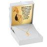Złoty medalik Matka Boska Częstochowska serce pr. 585 na chrzest komunie z Grawerem 2