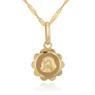 Złoty medalik Matka Boska z łańcuszkiem Dedykacja 3