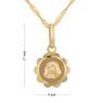 Złoty medalik Matka Boska z łańcuszkiem Dedykacja 5