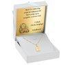 Złoty medalik z Matką Boską w ramce pr. 585 Grawer 2