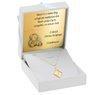 Złoty medalik z łańcuszkiem próba 585 Matka Boska z Dzieciątkiem Chrzest Komunia Grawer 3